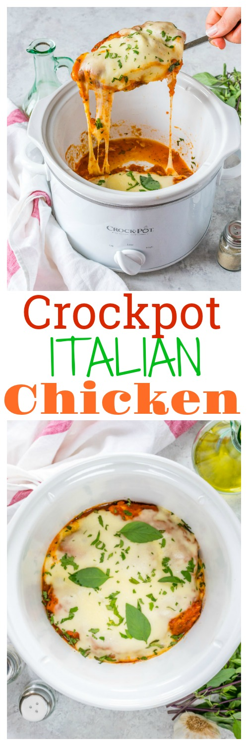 Delicious Crockpot Melty Italian Chicken