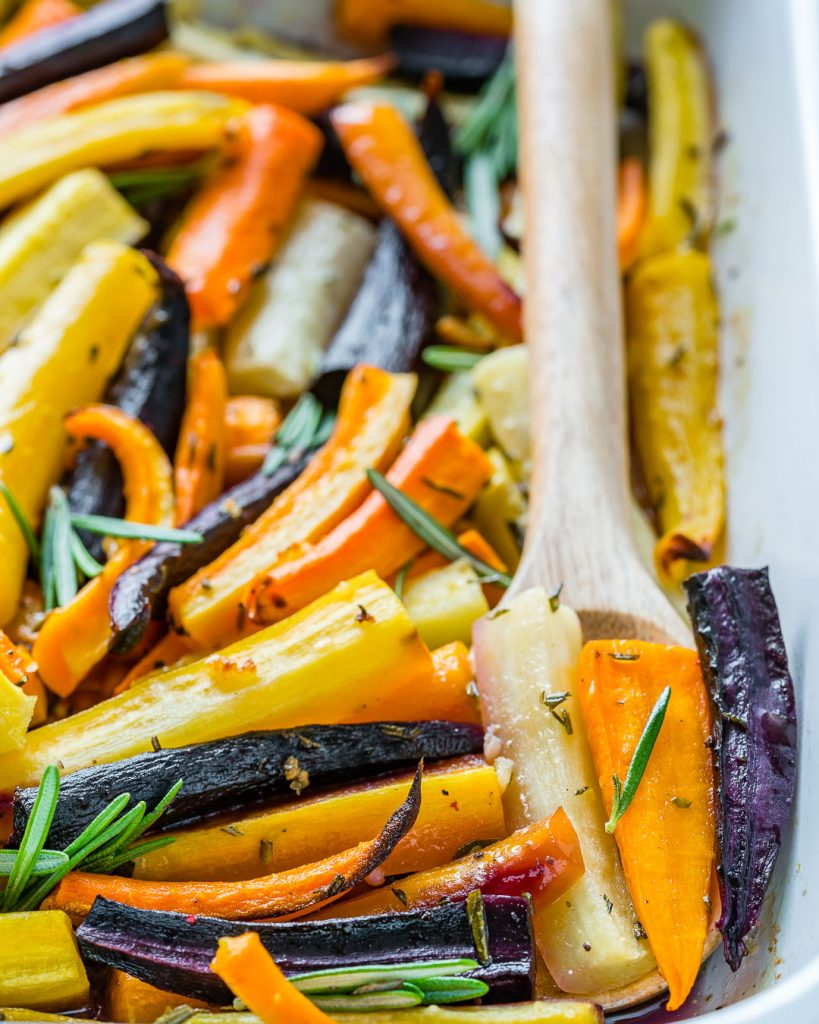 Honey Butter Herb Roasted Carrots Recipe