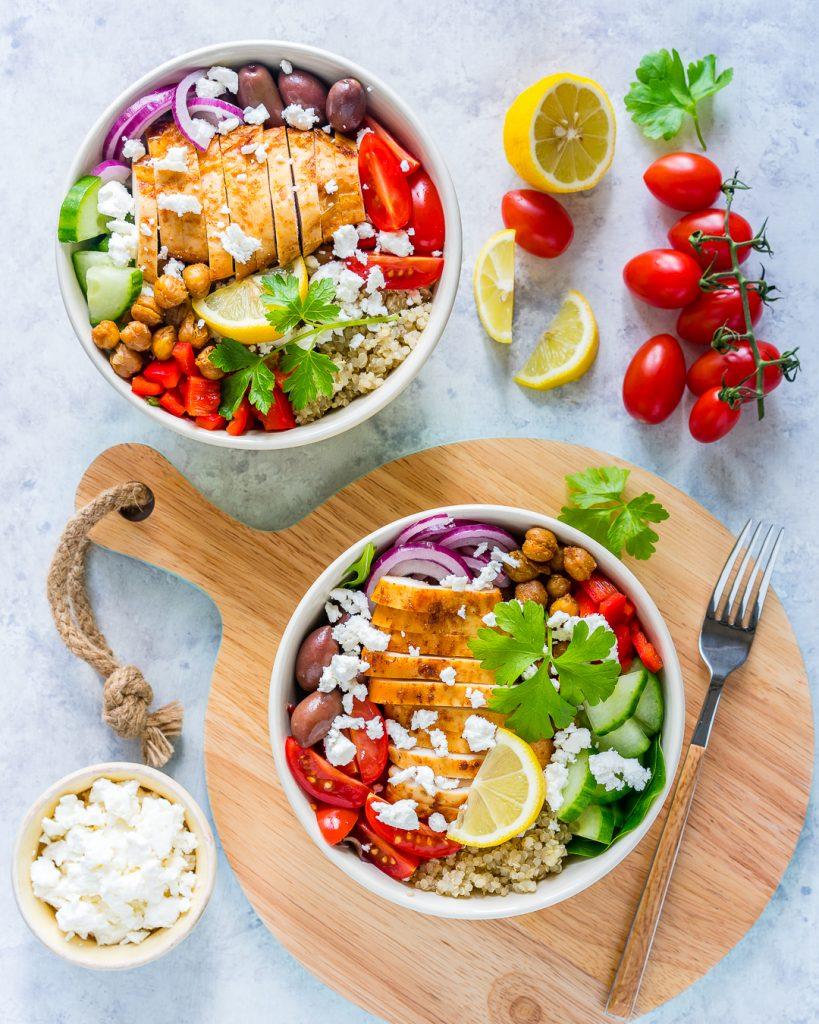 Healthy Mediterranean Chicken with Roasted Chickpeas
