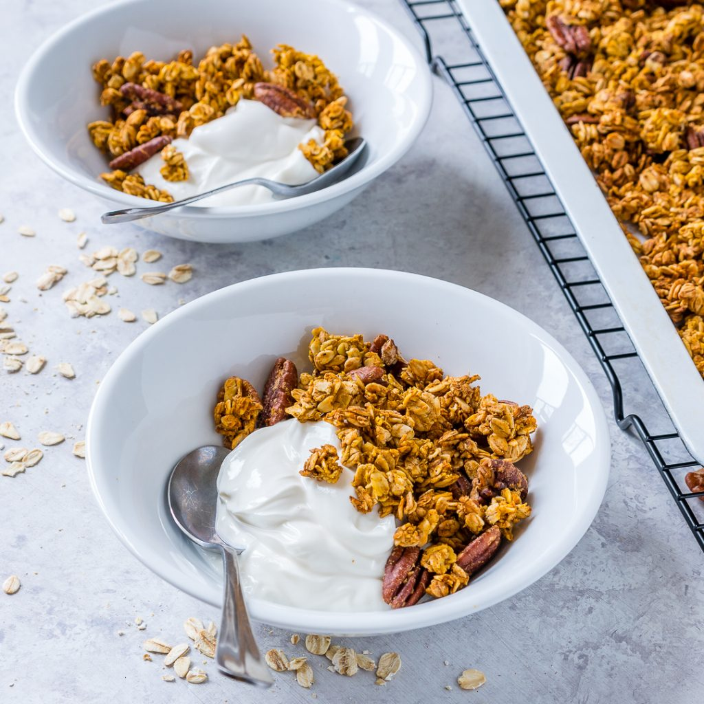 Pumpkin Pie Granola Ingredients
