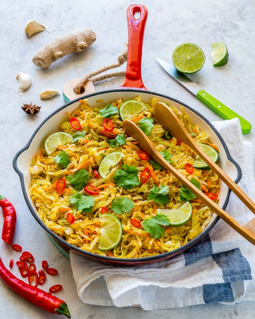 Spicy Stir-Fried Cabbage Healthy Side Dish