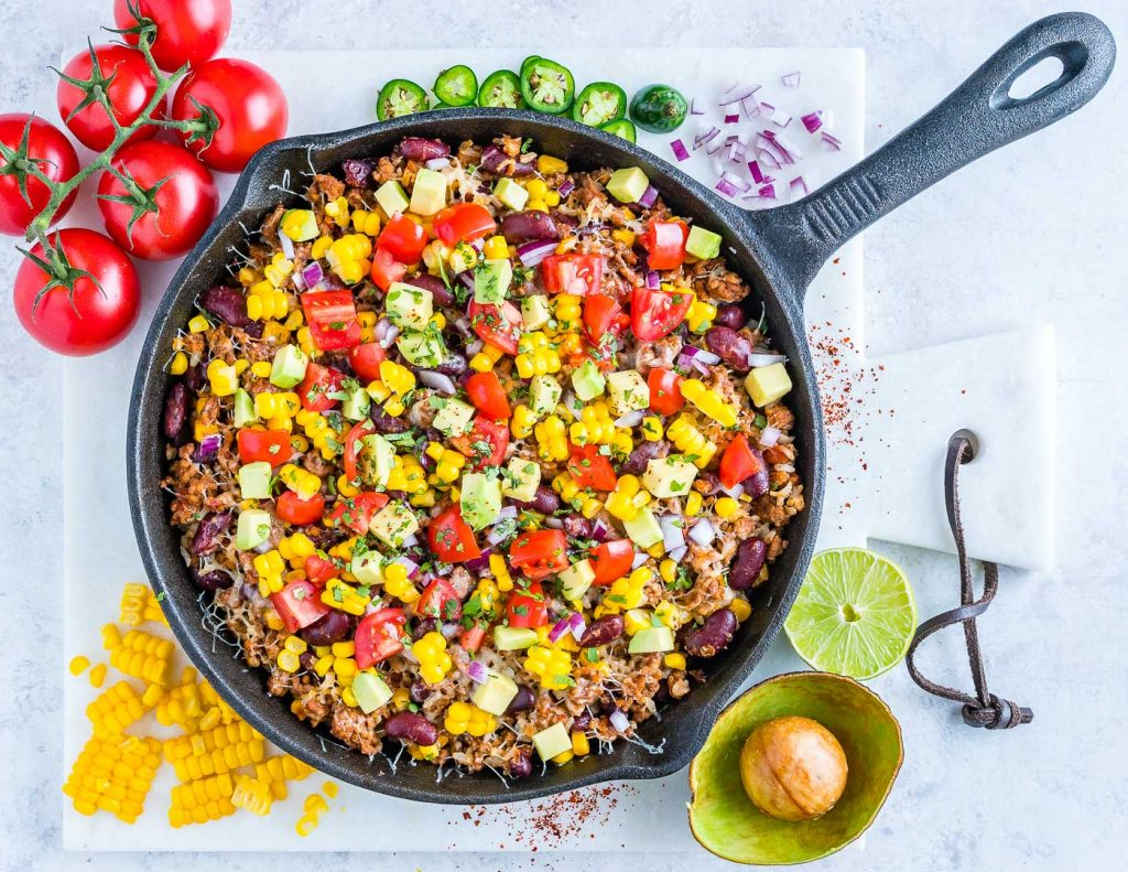 Healthy Tex-Mex Hearty Turkey Rice Skillet