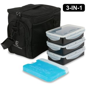 EDC Meal Prep Bag Portion Control Containers