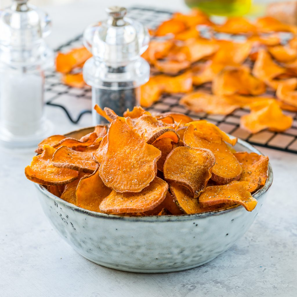 Eat Clean Baked Sweet Potato Chips