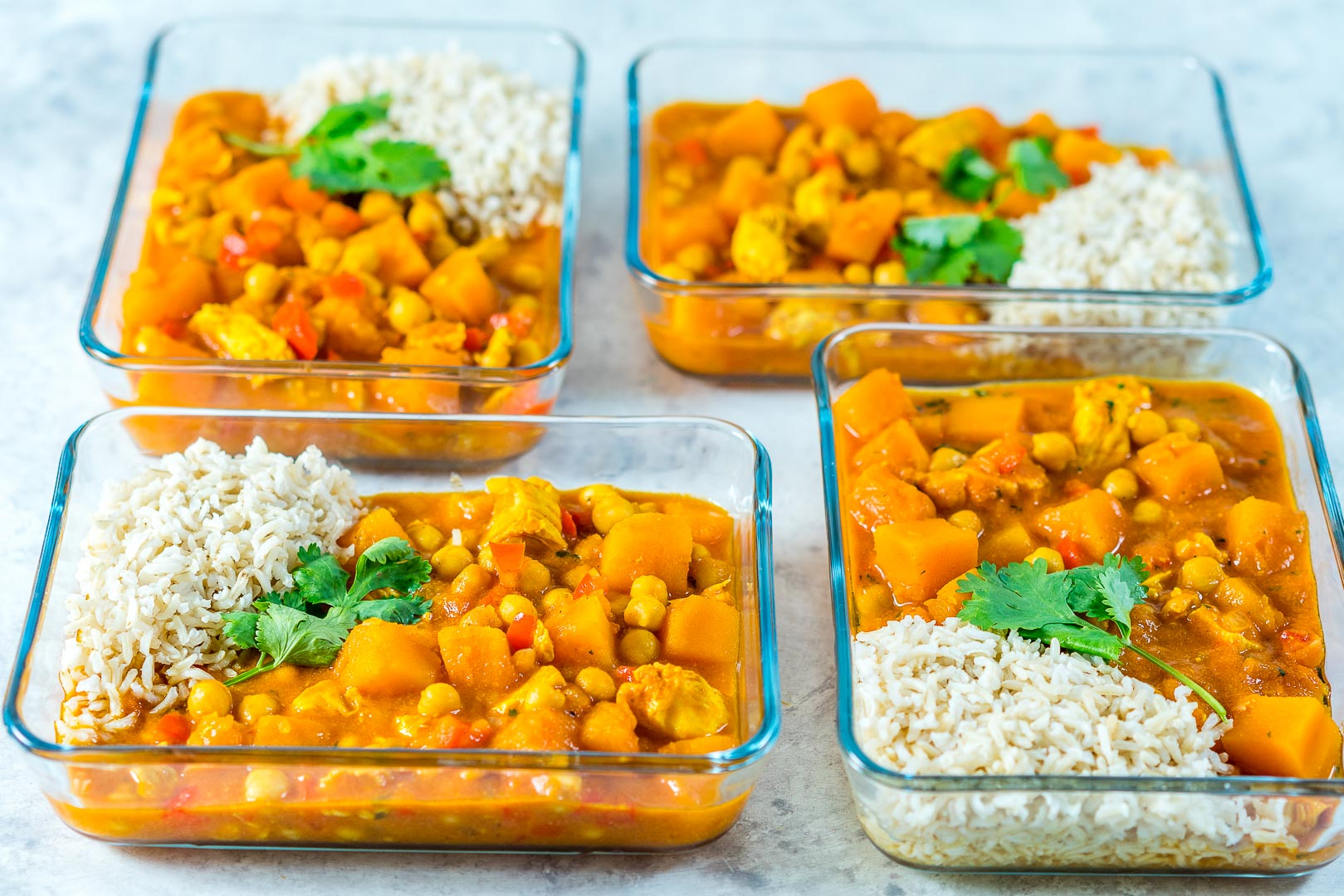 Eat Clean Crockpot Butternut Squash Chicken Curry