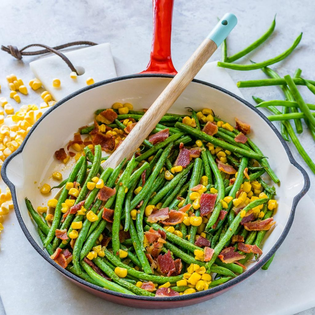 Eat Clean Green Bean Bacon Skillet