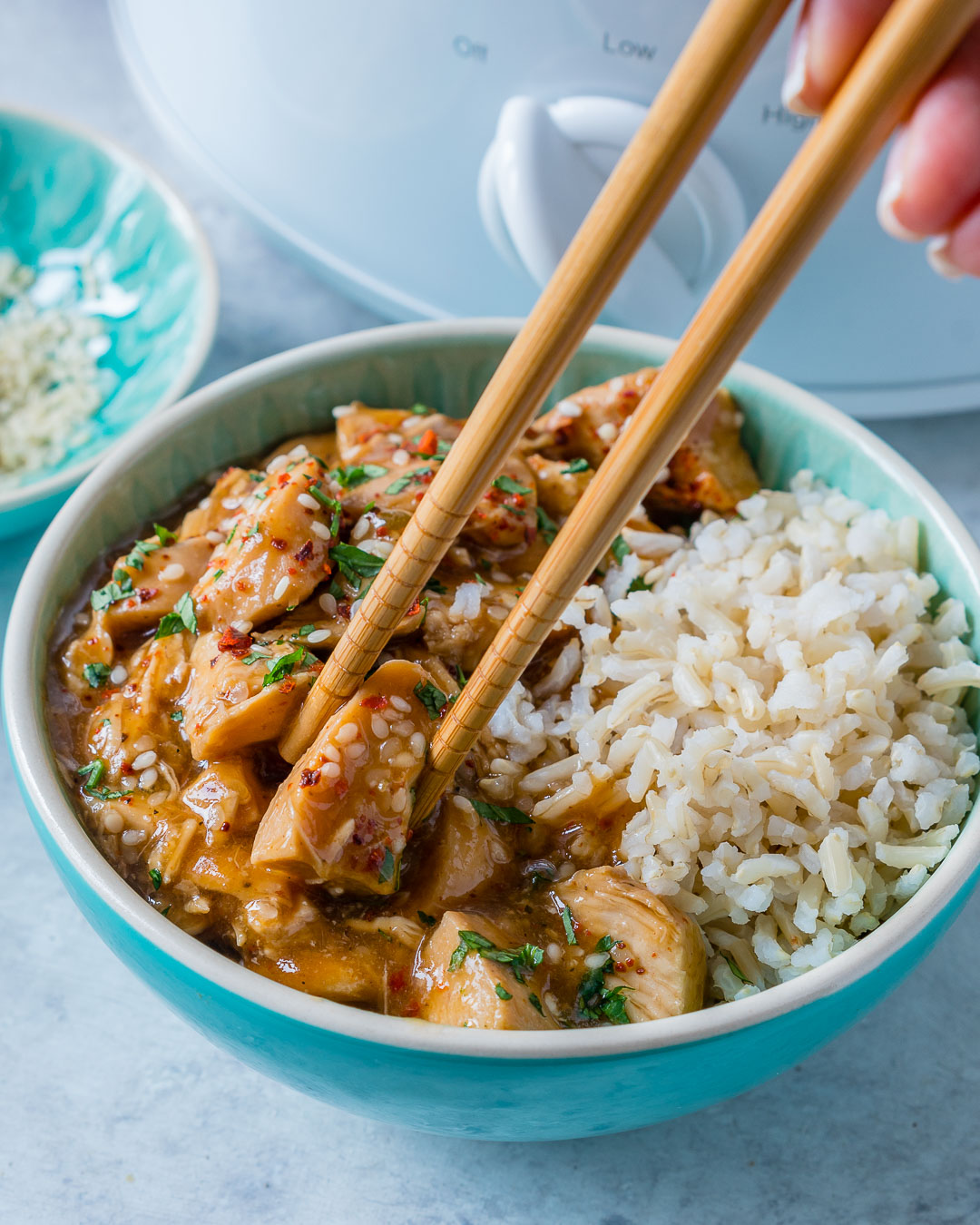 Eat Clean Tangy Crockpot Sesame Chicken