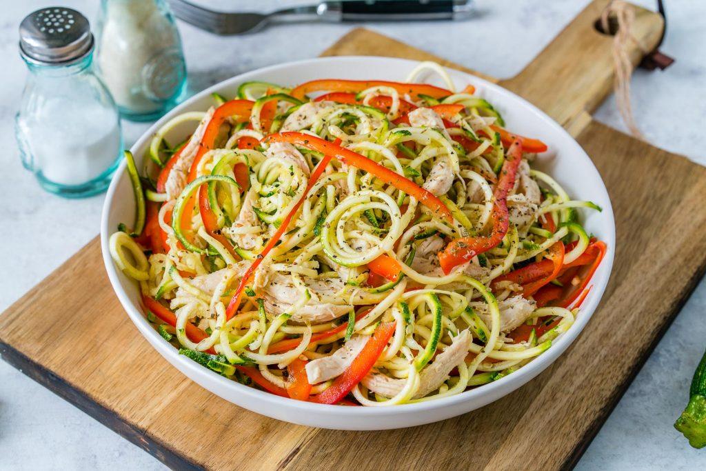 Eat Clean Turkey Zucchini Noodle Salad