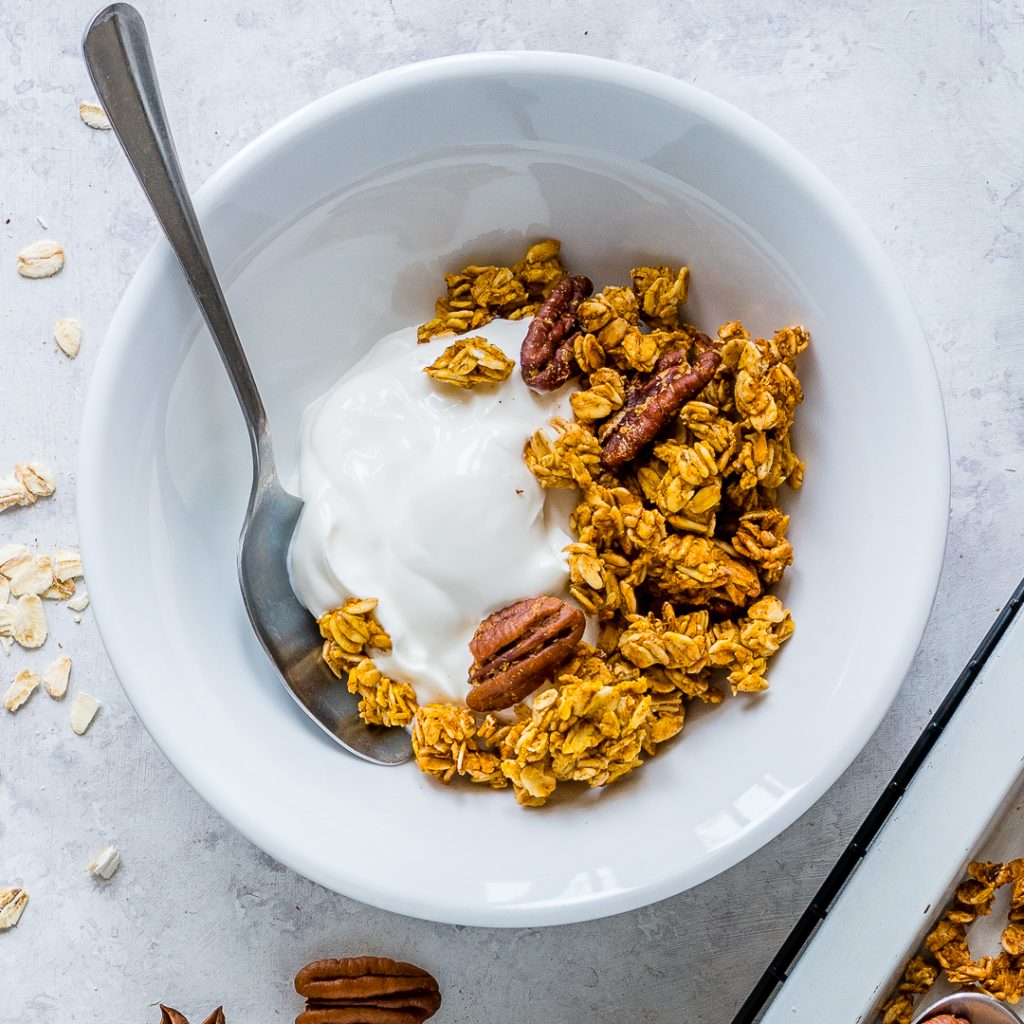 Eat Healthy Pumpkin Pie Granola
