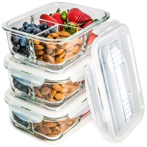 Glass Meal Prep Food-Storage Container Set