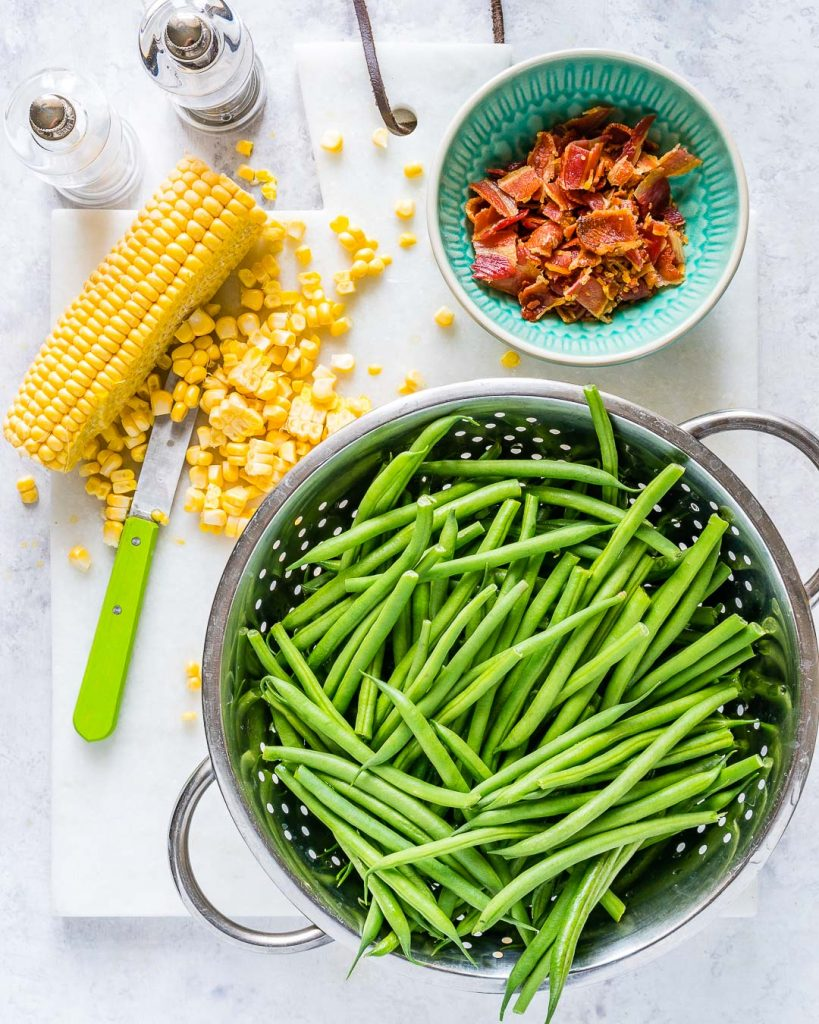 Green Bean Bacon Skillet Ingredients