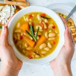 Healthy Crockpot Rosemary Garlic White Bean Soup