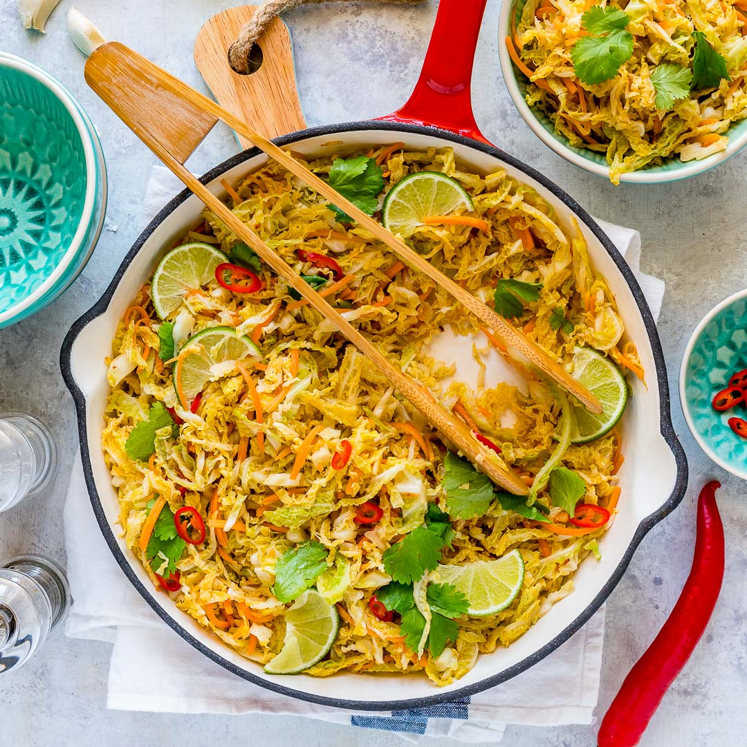 Healthy Spicy Stir-Fried Cabbage