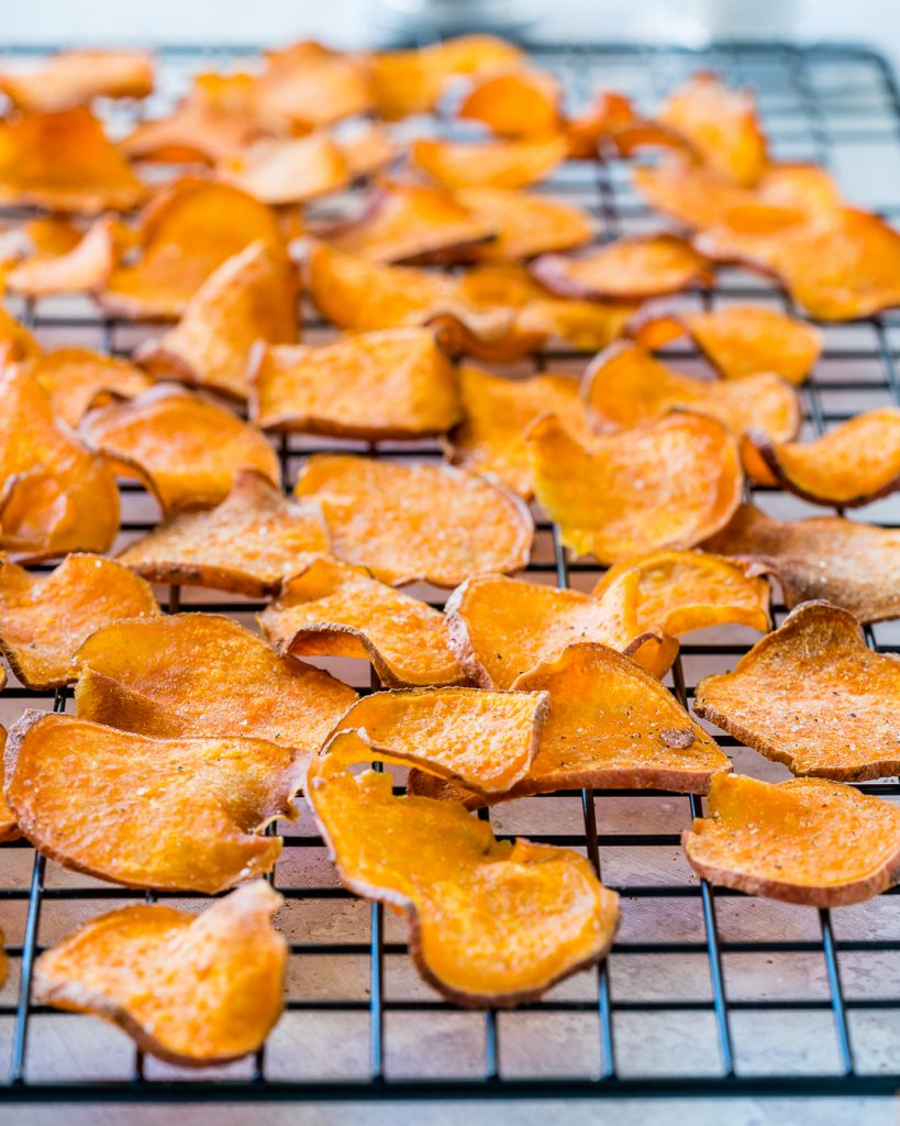 Homemade Snack Baked Sweet Potato Chips