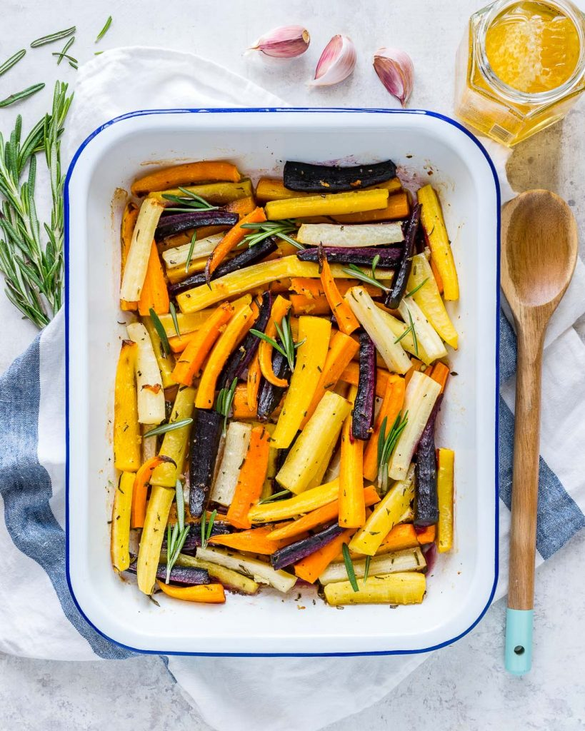 Honey Butter Herb Roasted Carrots Thanksgiving Side Dish