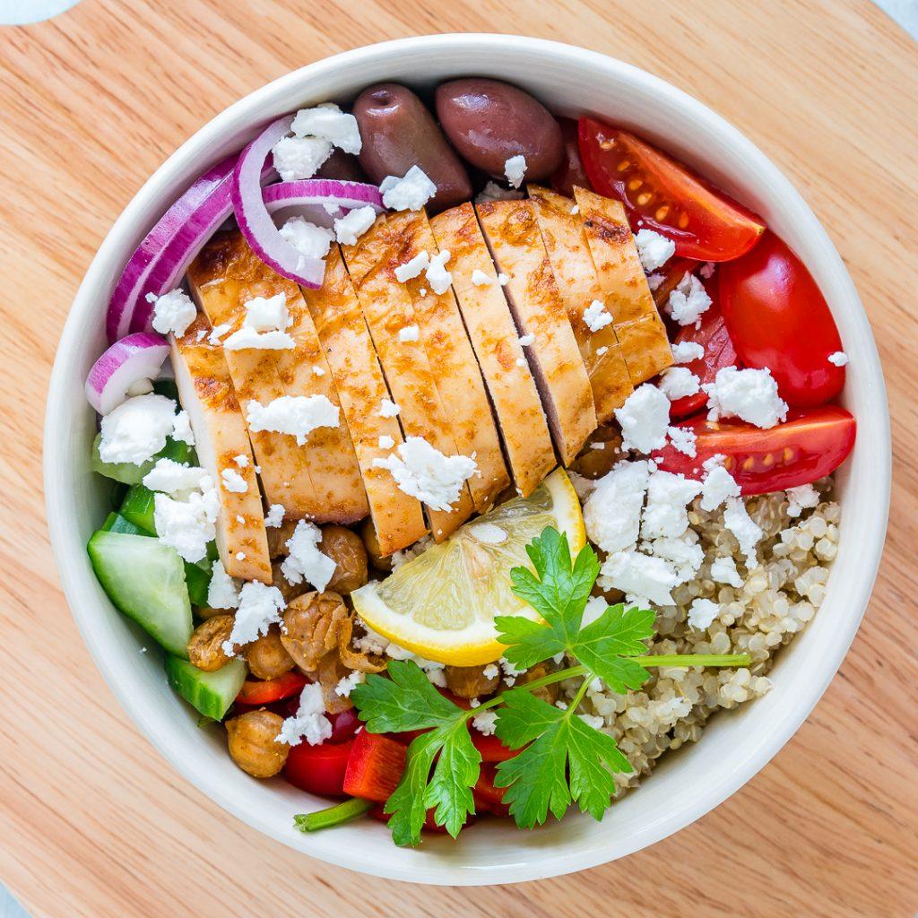 Clean Mediterranean Chicken Power Bowls Recipe