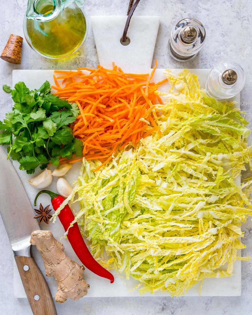 Spicy Stir-Fried Cabbage Ingredients