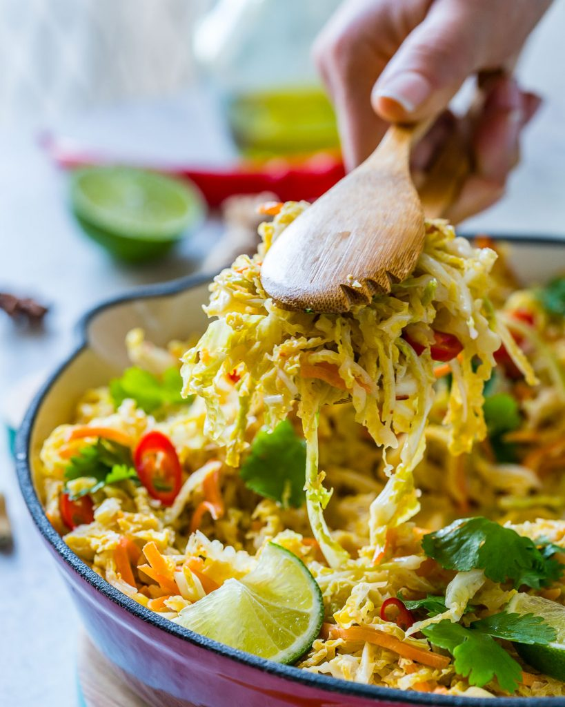 Spicy Stir-Fried Cabbage Clean Eating Meal