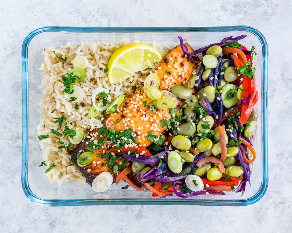 Sweet Chili Salmon Meal Prep Bowls Clean Recipe