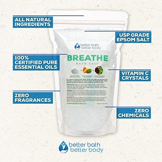 Breathe Bath Salts on Amazon