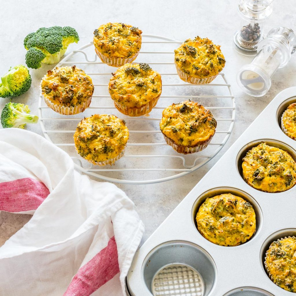 Clean Eating Broccoli Egg Breakfast Muffins Recipe