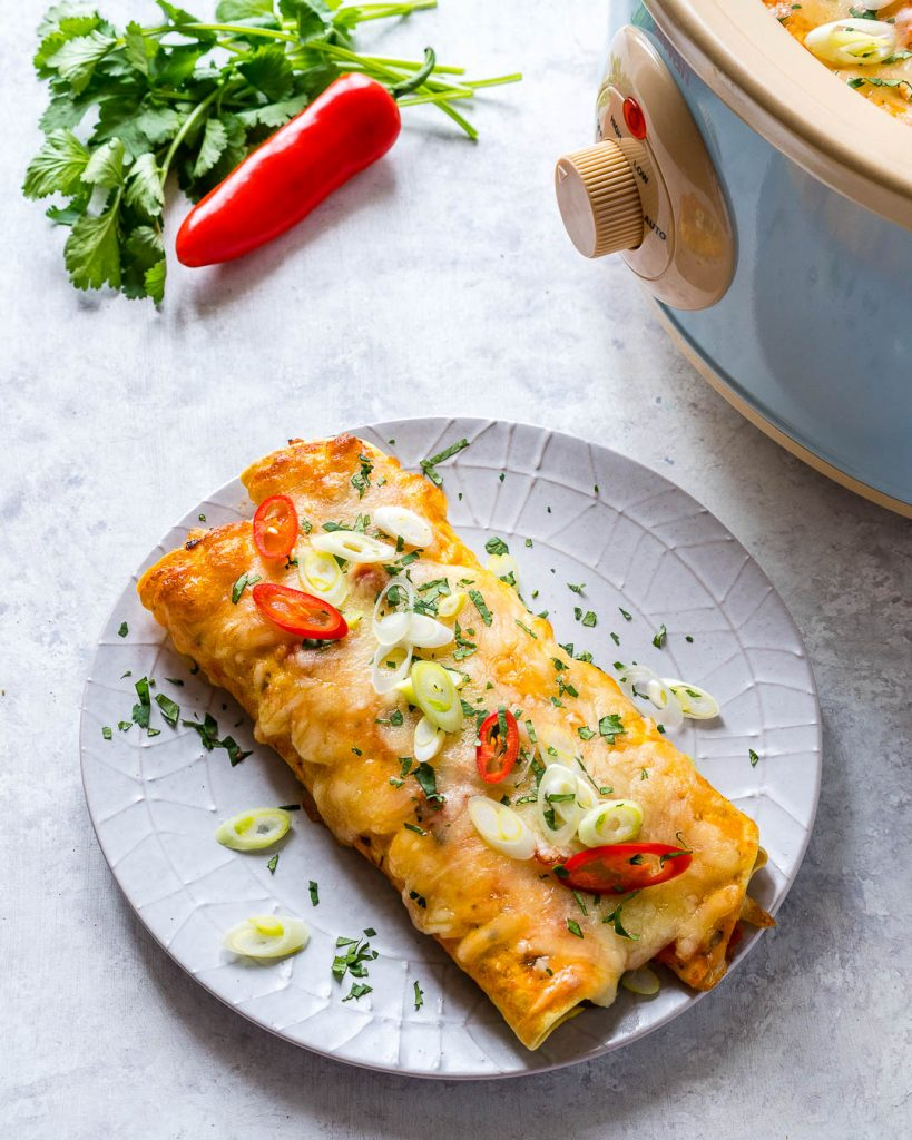 Clean Eating Slow Cooker Enchiladas