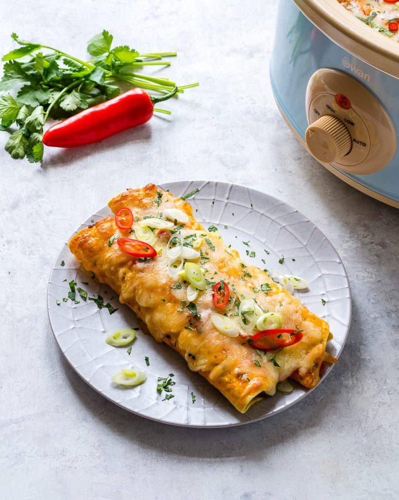 Healthy Slow Cooker Enchiladas