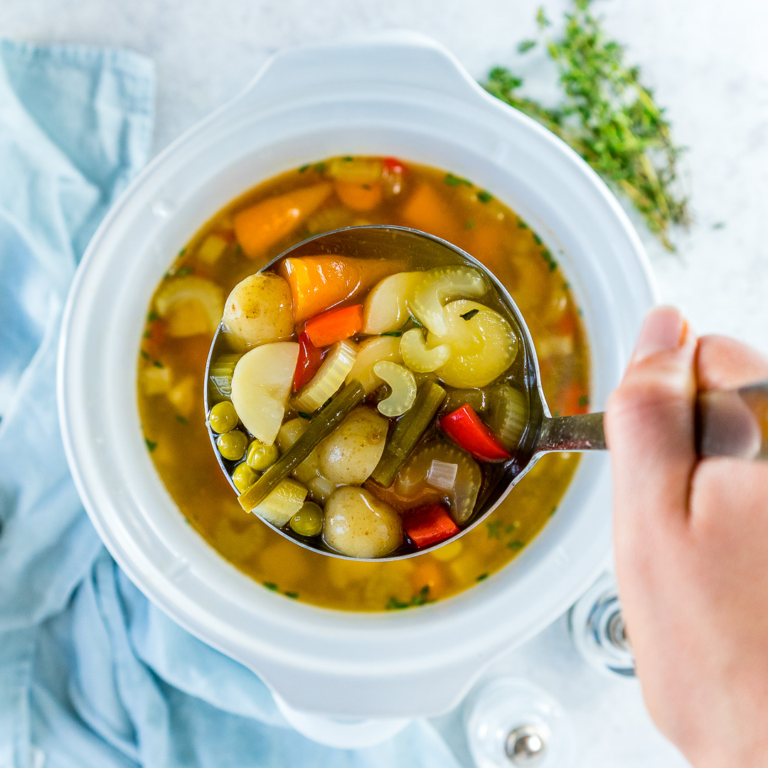 Cold flu nourishing crockpot vegetable soup recipe for Soup for a cold