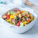 Delicious Quinoa Brussels Warm Salad