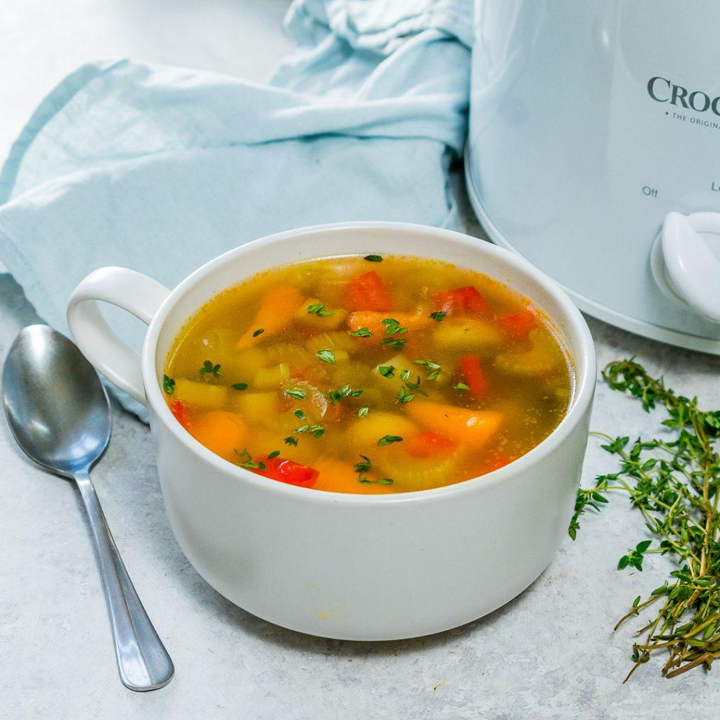Detox Nourishing Crockpot Vegetable Soup