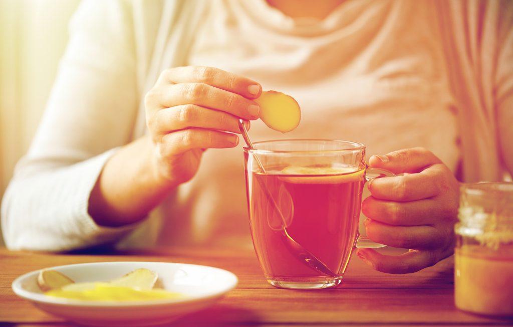 Ginger Tea for Cold Flu