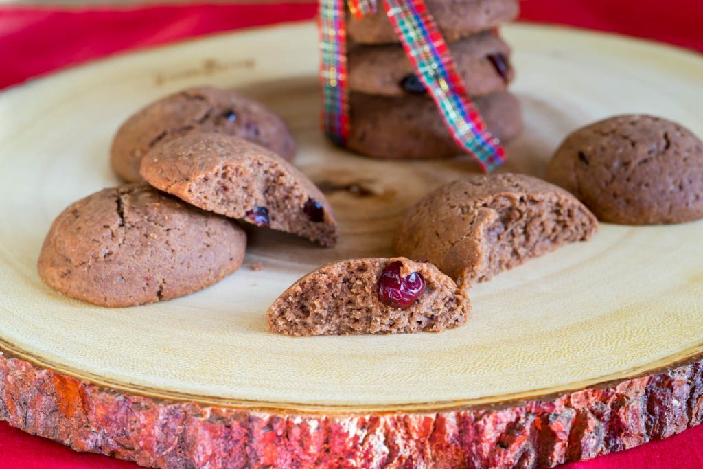 Gluten Free Cranberry Double Chocolate Cookies