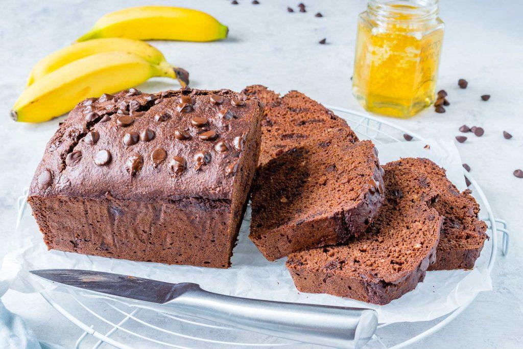 Healthy Chocolate PB Banana Bread Recipe