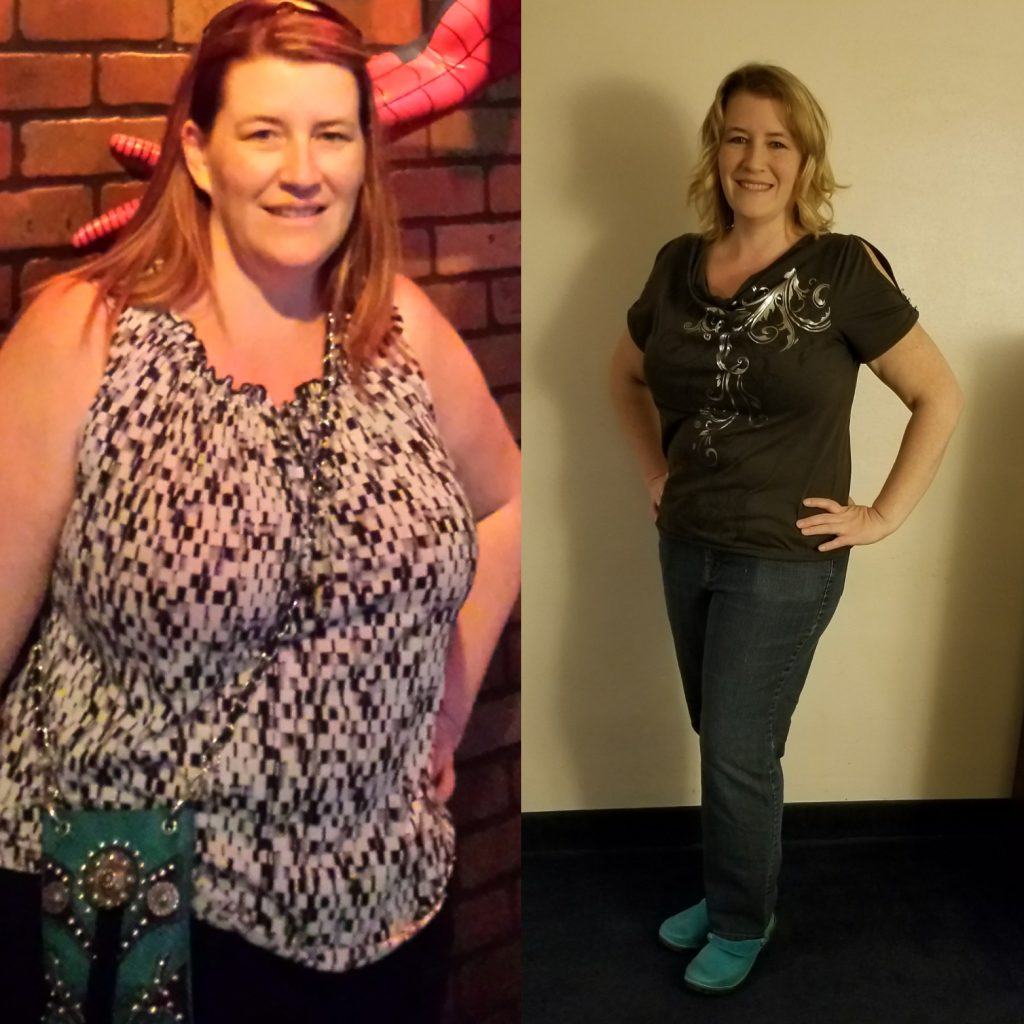 Carrie Before and After Losing 50 Pounds on Clean Eating