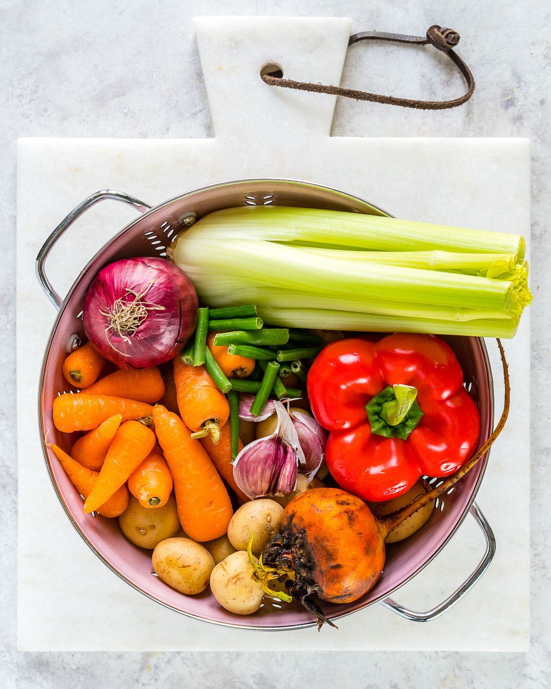Nourishing Crockpot Vegetable Soup Ingredients