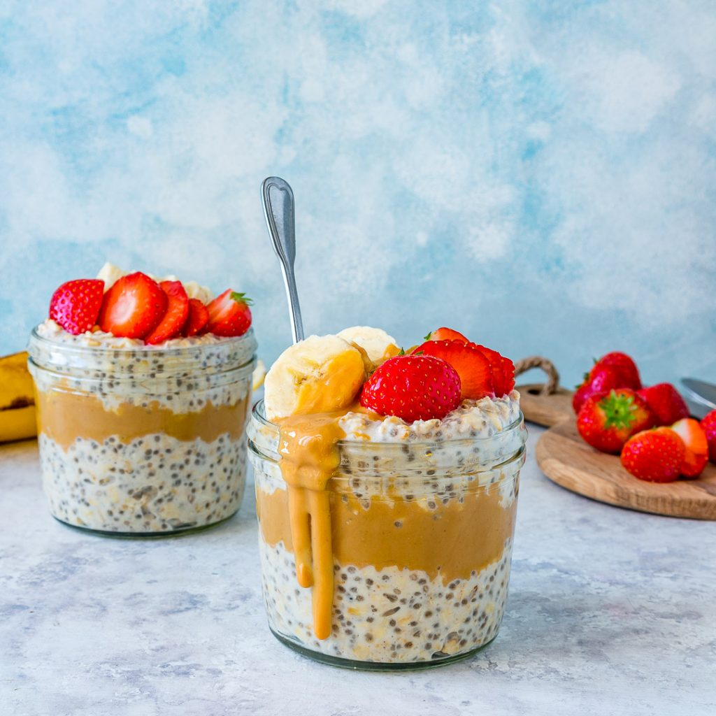 Peanut Butter Overnight Oats Healthy Recipe