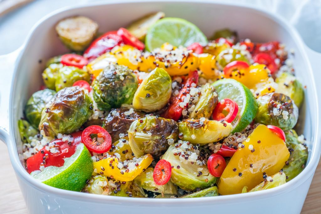 Healthy Quinoa Brussels Warm Salad