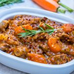 Clean Eating Crockpot Beef + Sweet Potato Stew