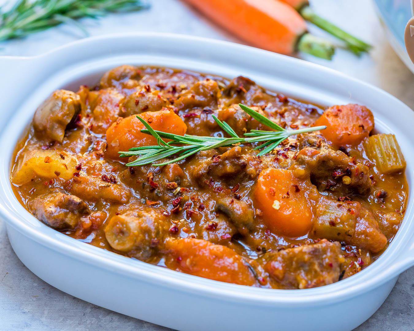 Clean Eating Crockpot Beef + Sweet Potato Stew