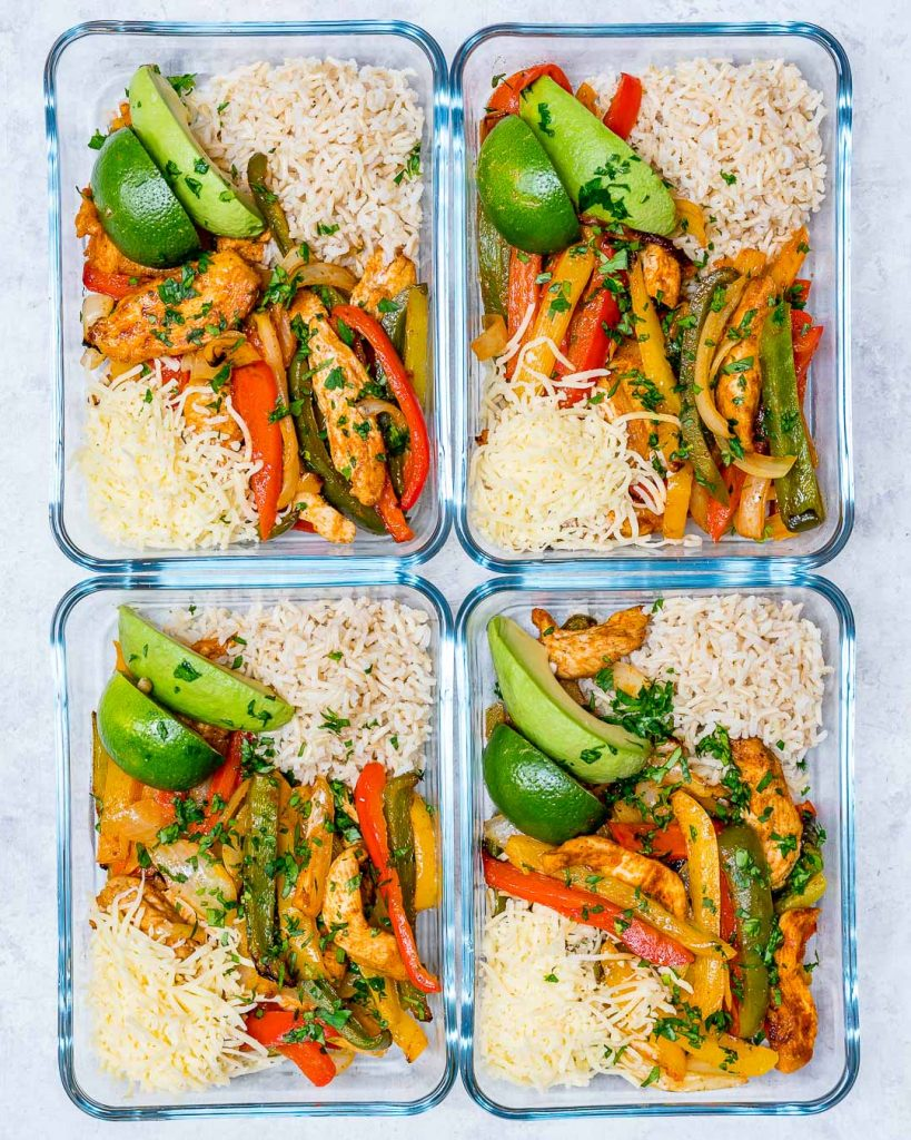 Clean Eating Oven Baked Chicken Fajita Bowls