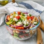 CleanFoodCrush Loaded Greek Chickpea Chopped Salad Recipe