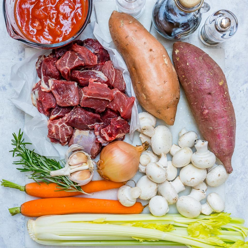 Beef Stew with Sweet Potato Ingredients