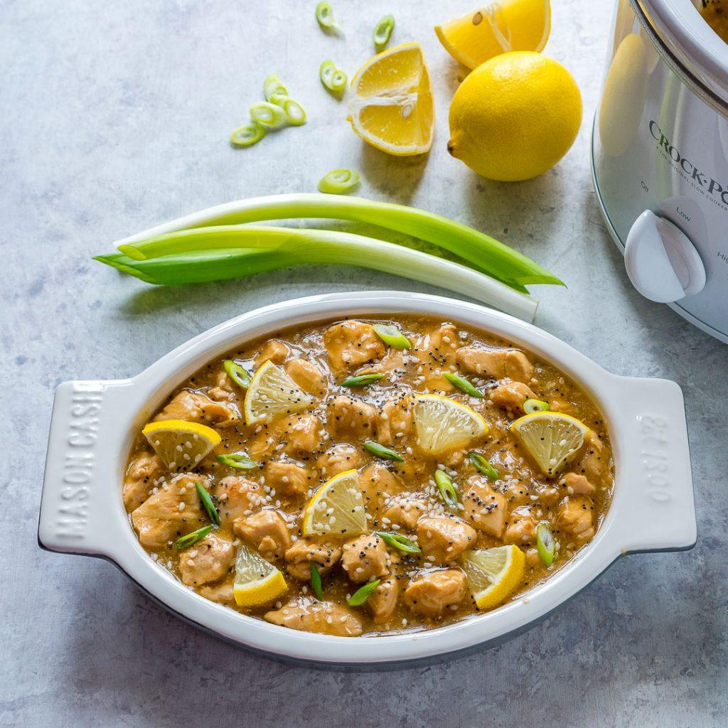 Healthy Crockpot Skinny Lemony Chicken