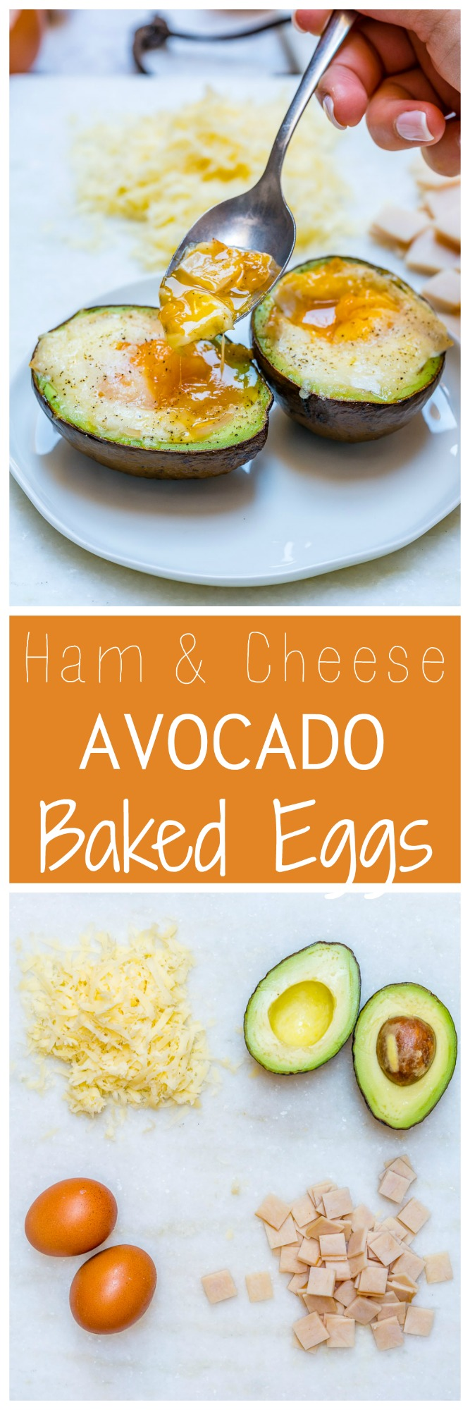 Ham Cheese Avocado Baked Eggs CleanFoodCrush