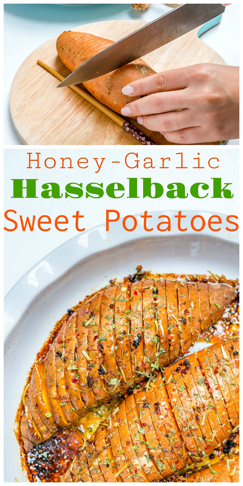 Honey Garlic Hasselback Sweet Potatoes Clean Eating