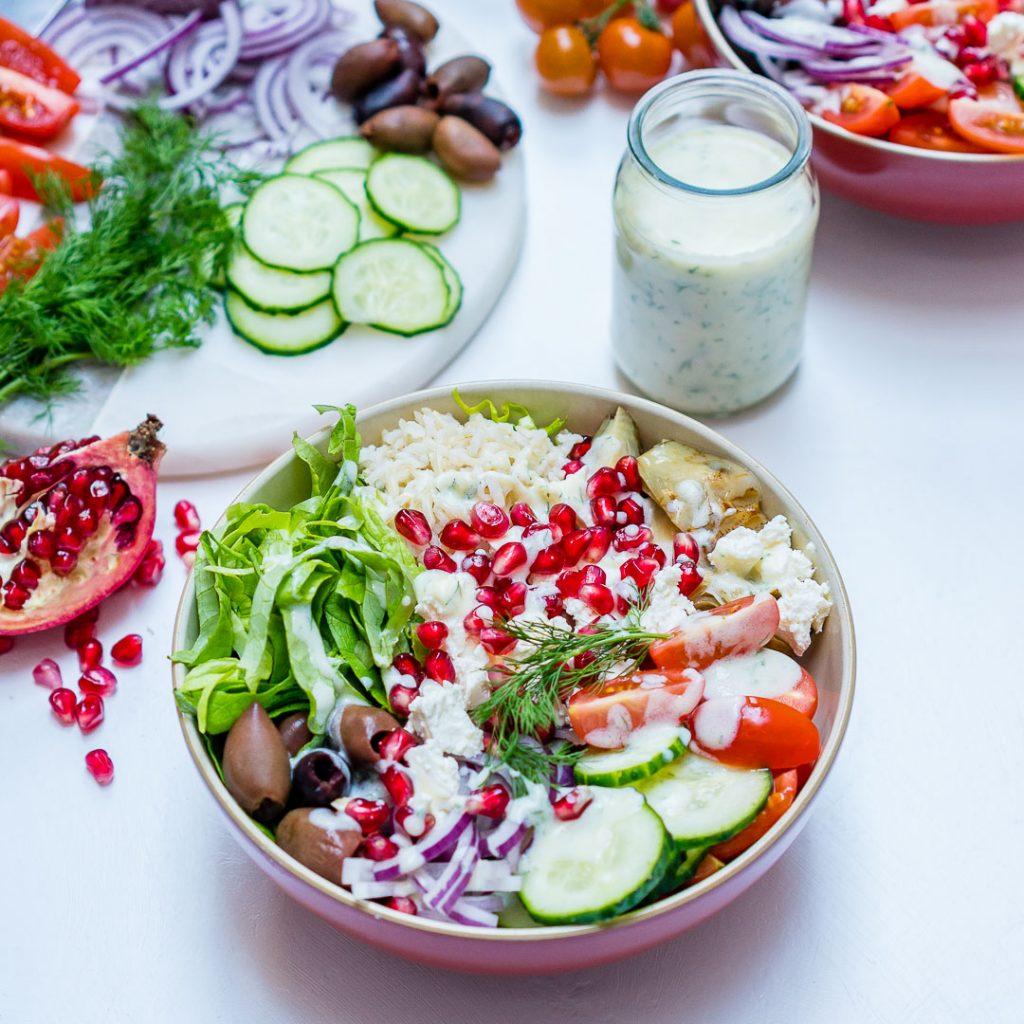 Mediterranean Green Power Bowls Ingredients