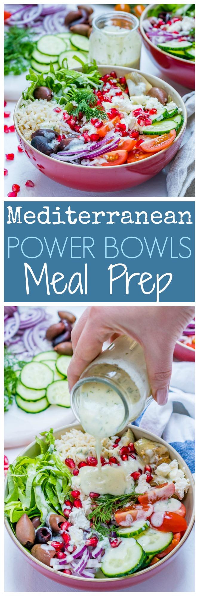 Mediterranean-Green Power Bowls Meal Prep