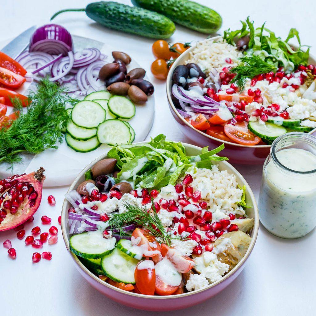 Clean Eating Mediterranean power bowls