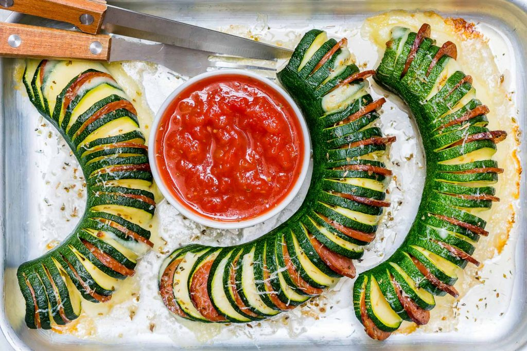 Pizza Stuffed Zucchini Clean Recipe
