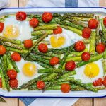 Roasted Tomato Asparagus Egg Bake Clean Eating